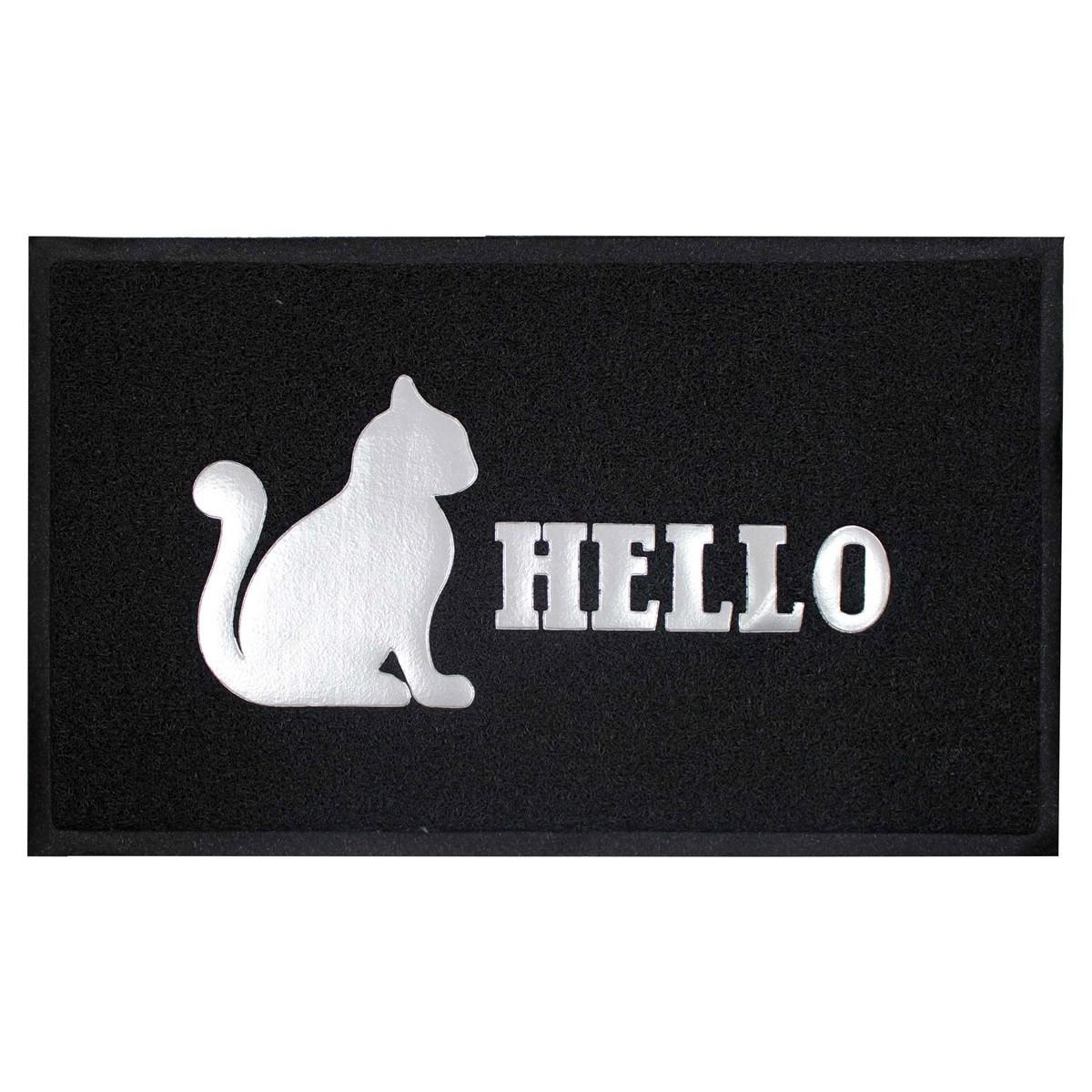 Πατάκι Εισόδου (45×75) Hello Cat Black 1740608