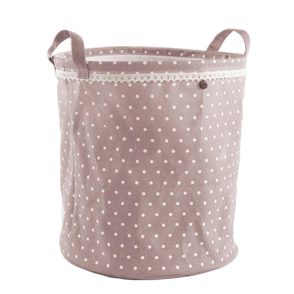 Καλάθι Απλύτων Alicia Pink/White 3002747