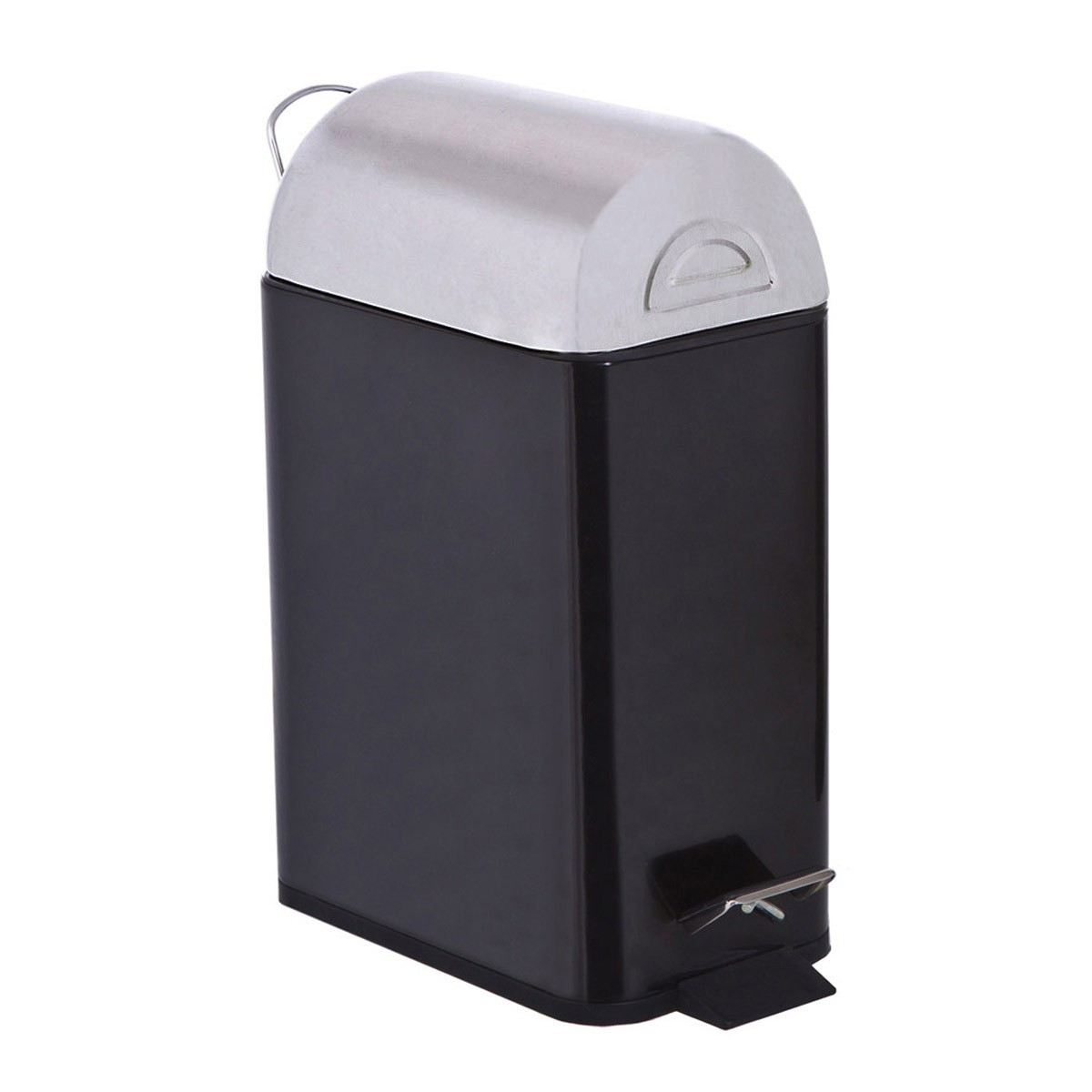 Κάδος Απορριμάτων Marva 5Lit Rectagular Black 431122 home   μπάνιο   κάδοι απορριμμάτων