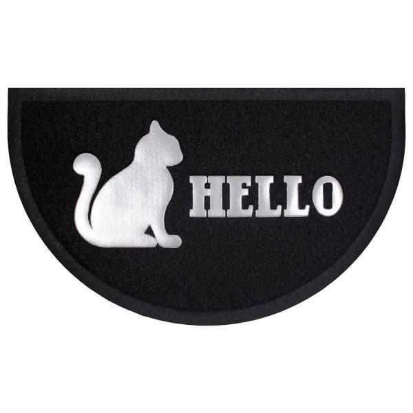Πατάκι Εισόδου (45x75) L-C Hello Cat Black Half Moon 1740609