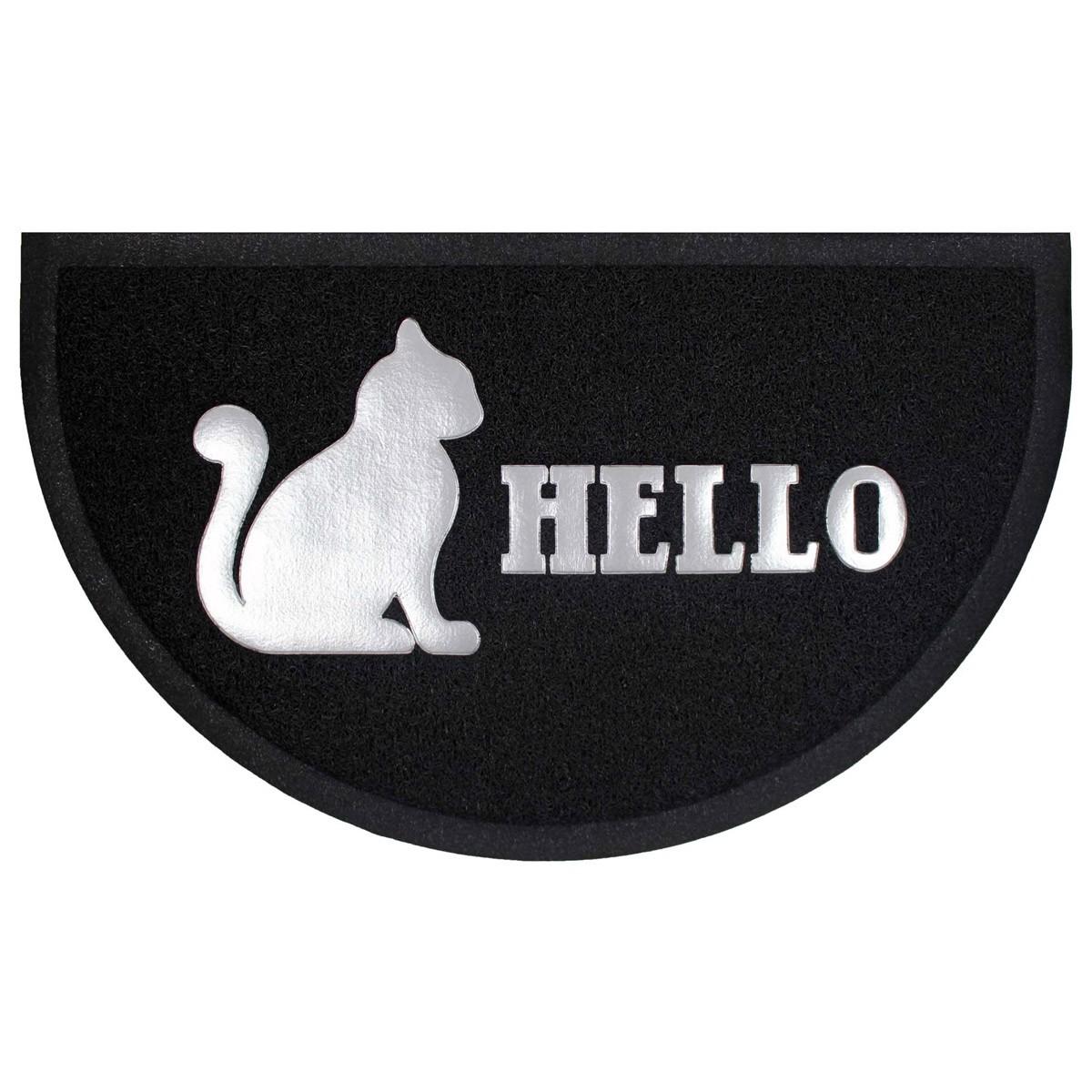 Πατάκι Εισόδου (45×75) Hello Cat Black Half Moon 1740609
