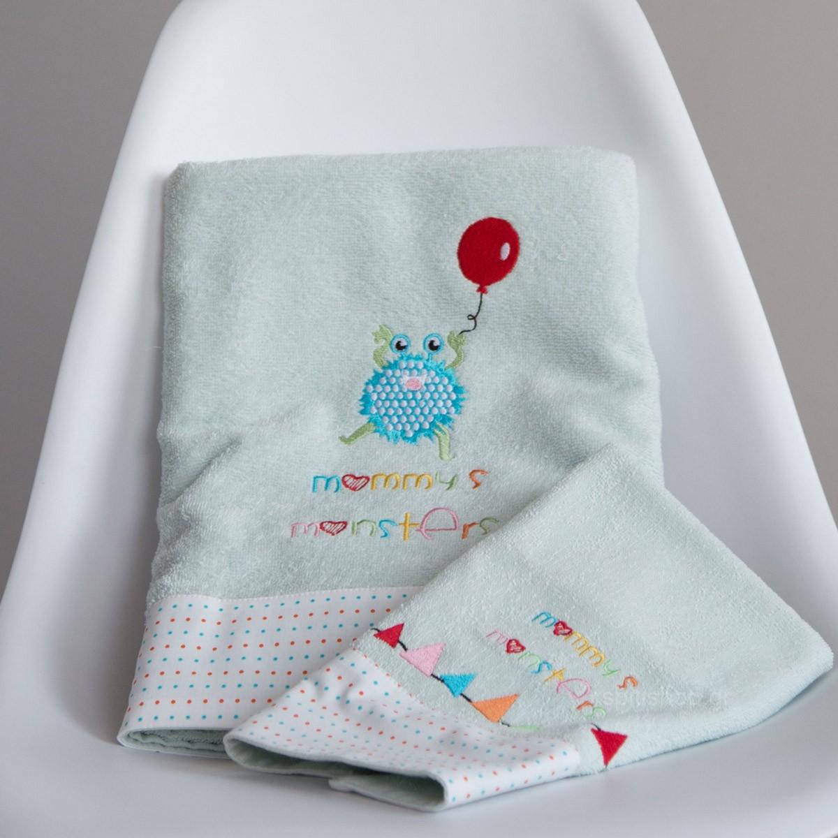 Βρεφικές Πετσέτες (Σετ 2τμχ) Nima Baby Mommy's Monsters