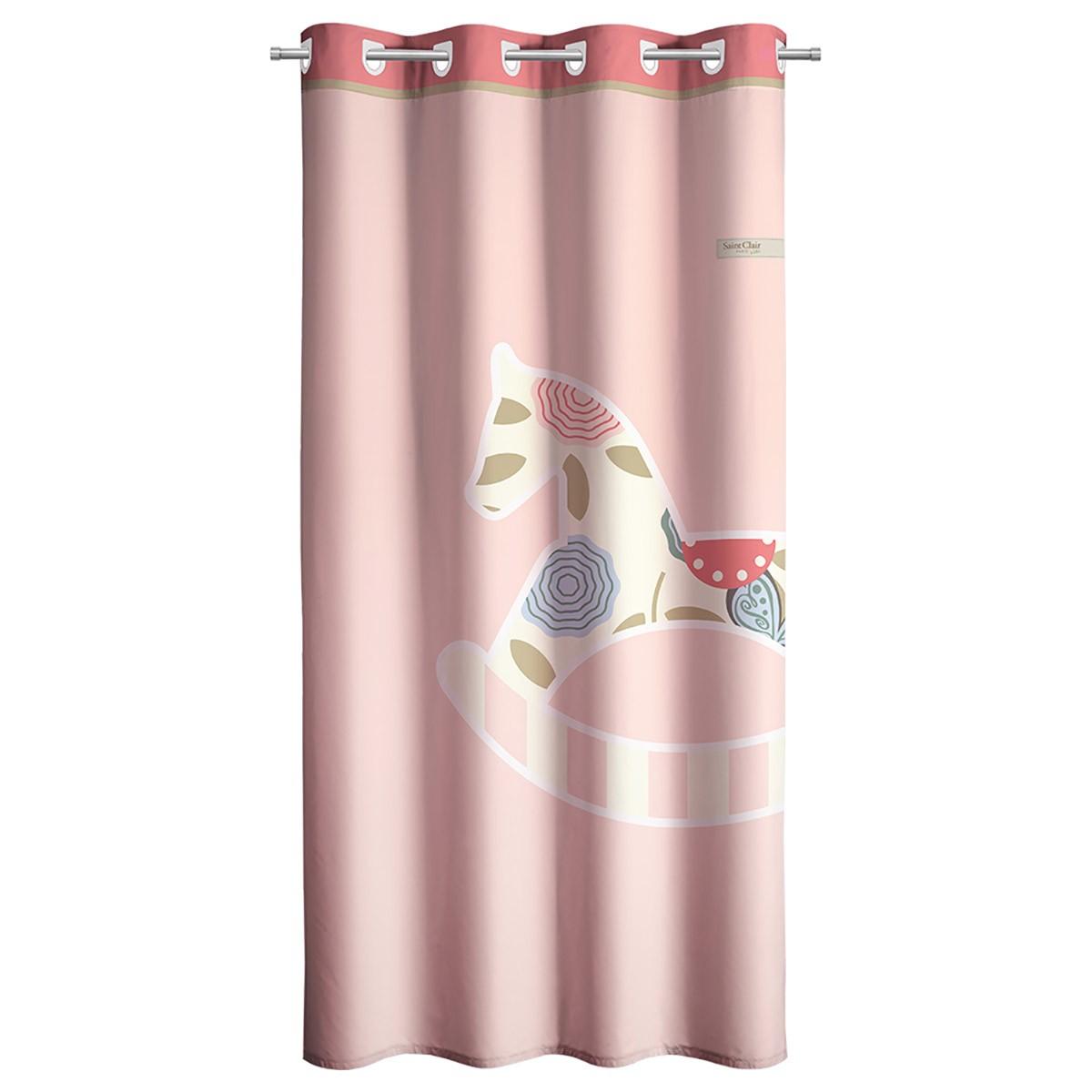 Παιδική Κουρτίνα (160×250) Με Τρουκς Saint Clair Toy Pink
