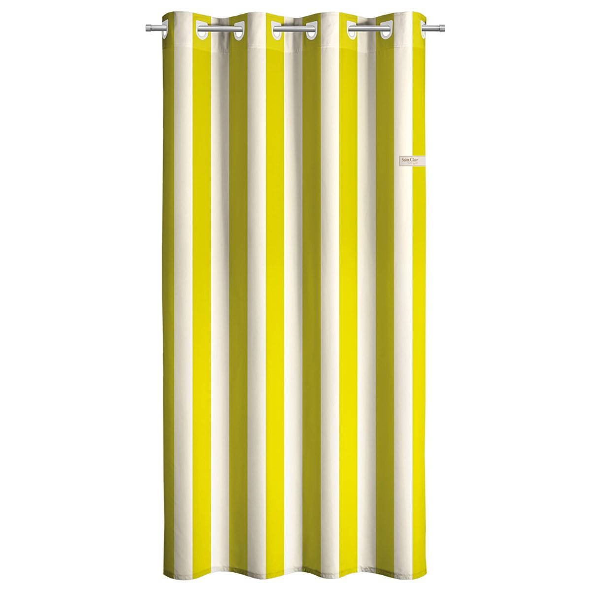 Παιδική Κουρτίνα (160×250) Με Τρουκς Saint Clair Lime Stripes