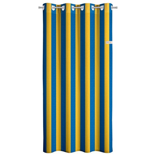 Παιδική Κουρτίνα (160x250) Με Τρουκς Saint Clair Blue Stripes