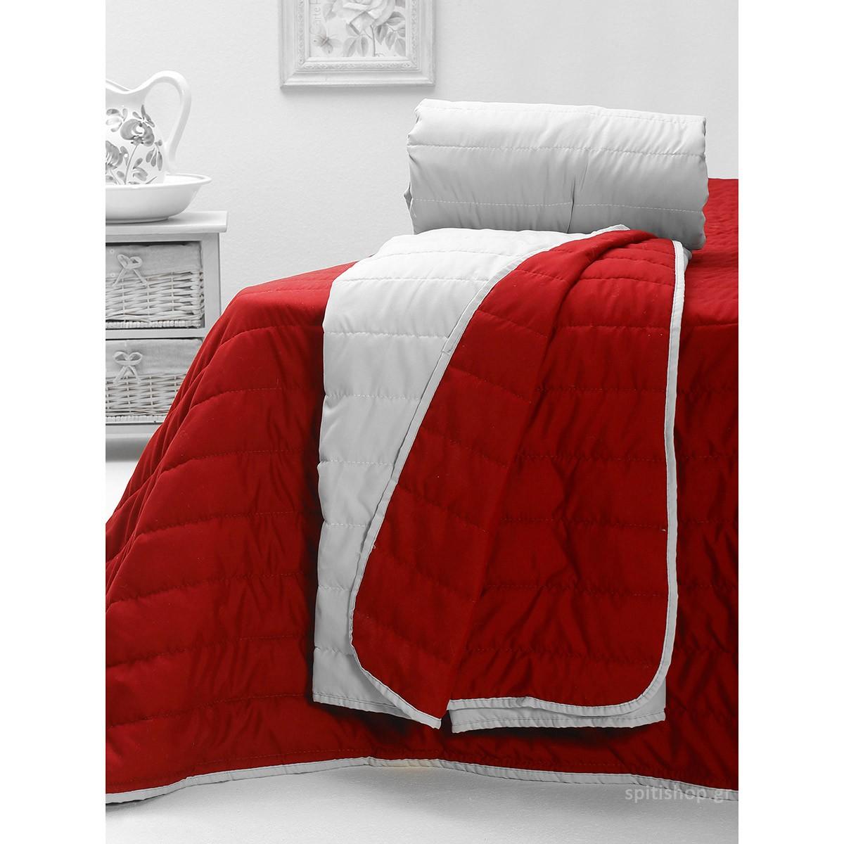 Κουβερλί Υπέρδιπλο 2Όψεων Sb Home Cool Summer Red
