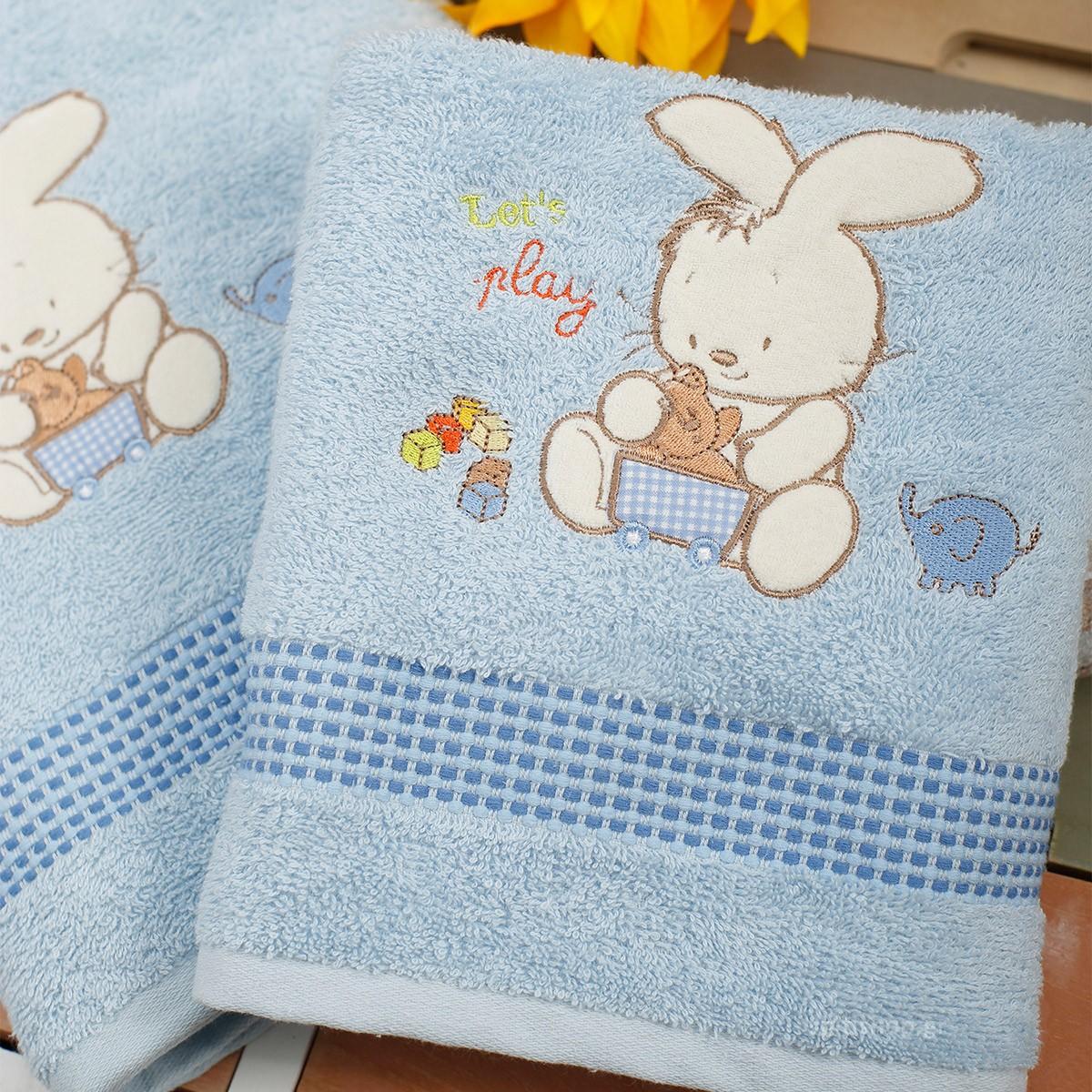 Βρεφικές Πετσέτες (Σετ 2τμχ) Sb Home Bunny Blue