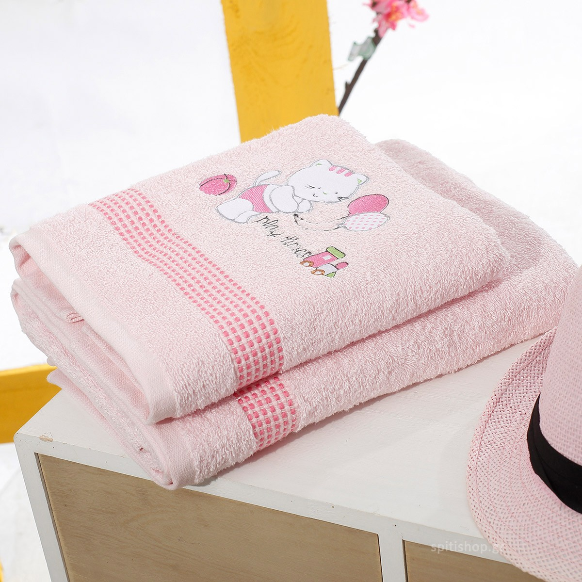 Βρεφικές Πετσέτες (Σετ 2τμχ) Sb Home Kitten Pink