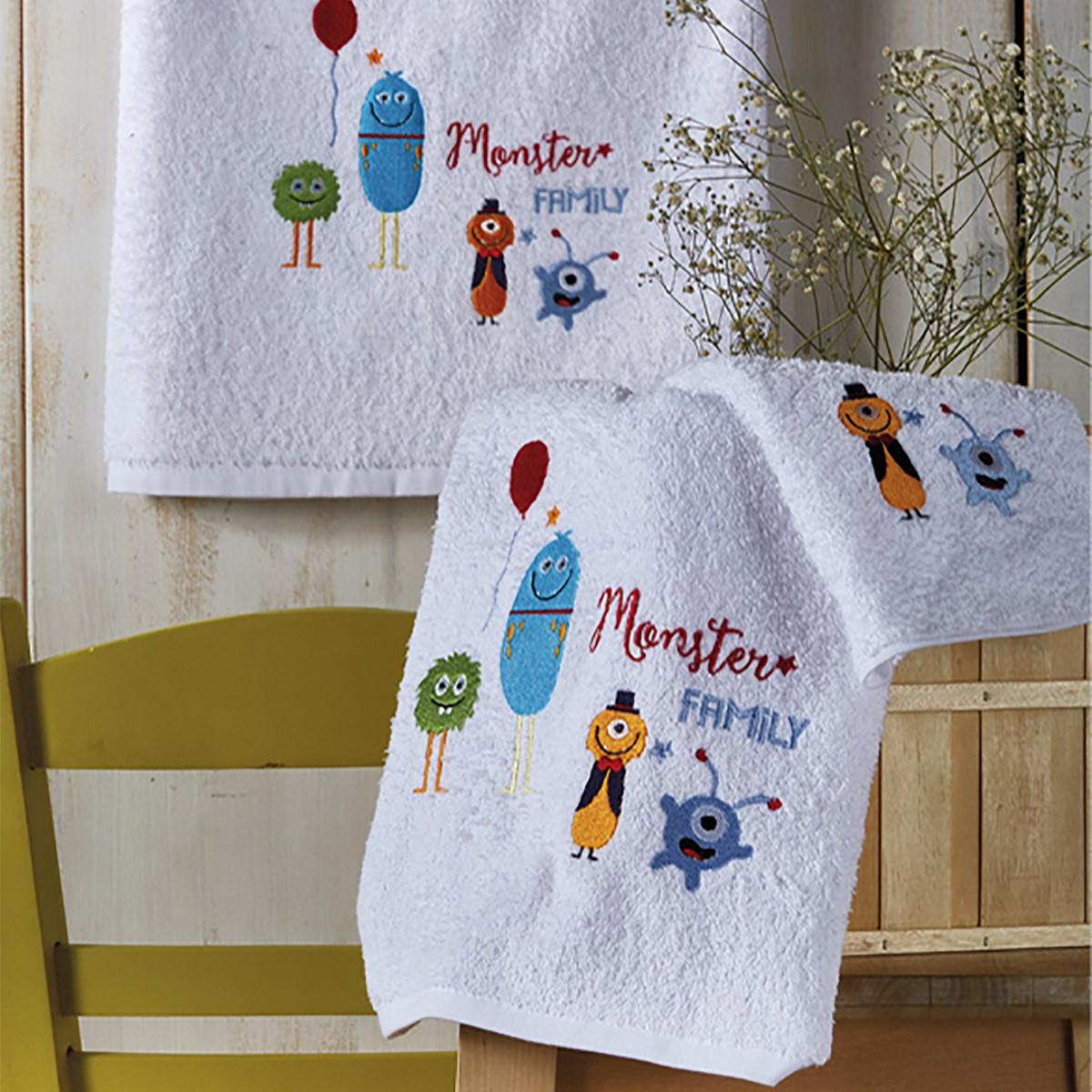 Παιδικές Πετσέτες (Σετ 3τμχ) White Egg Διάστημα