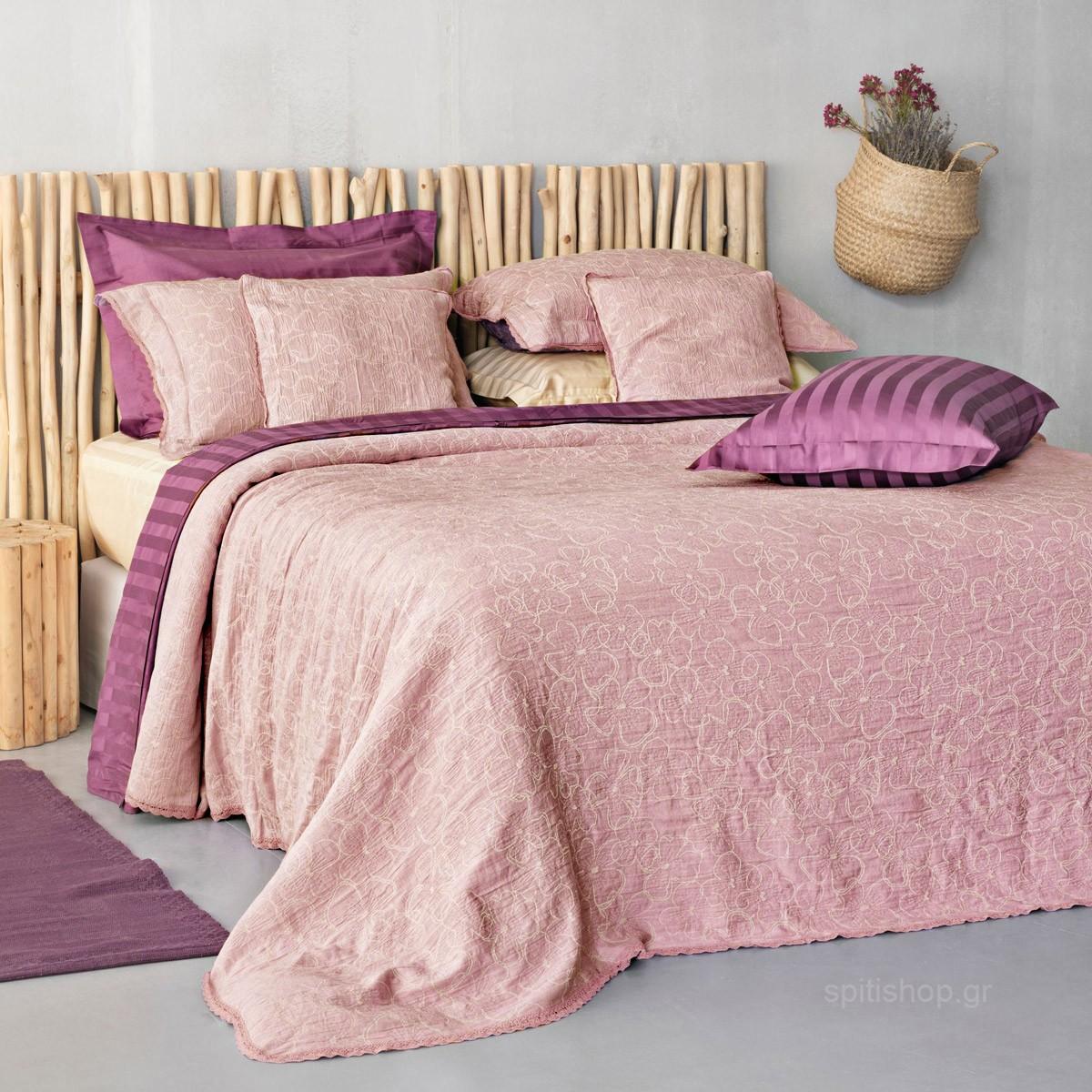 Κουβερτόριο Μονό Palamaiki Daily 1162 Light Pink home   κρεβατοκάμαρα   κουβέρτες   κουβέρτες καλοκαιρινές μονές