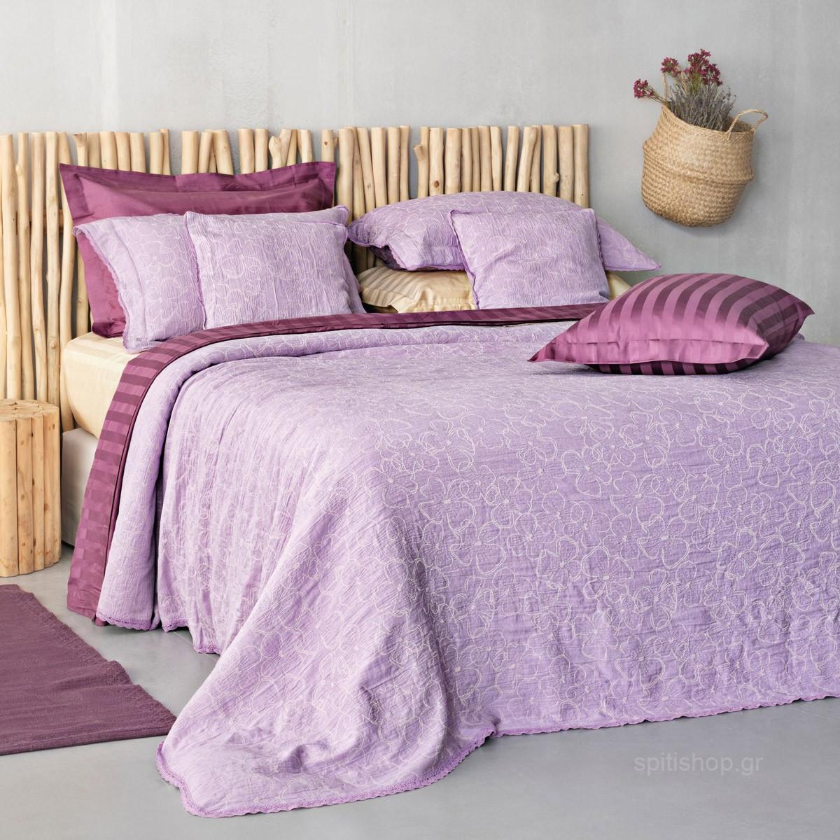Κουβερτόριο Μονό Palamaiki Daily 1162 Purple home   κρεβατοκάμαρα   κουβέρτες   κουβέρτες καλοκαιρινές μονές