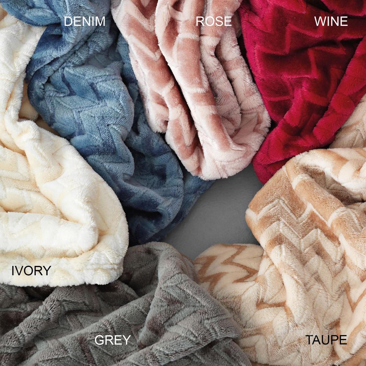Κουβέρτα Fleece Μονή Palamaiki Flannel Zig Zag