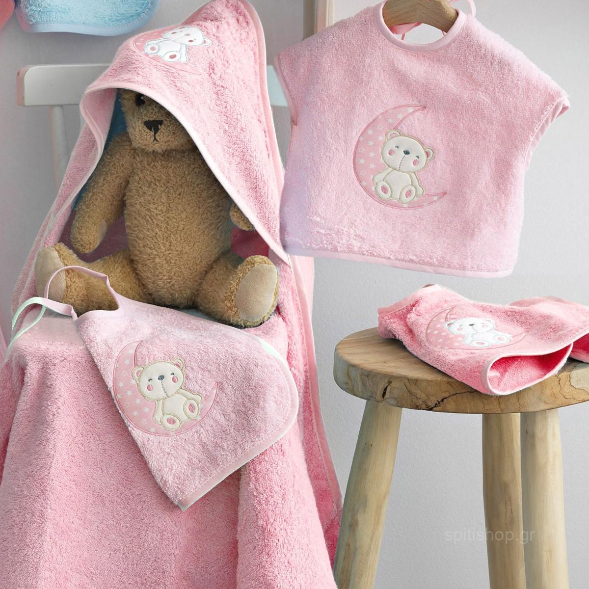 Βρεφικό Σετ Λουτρού Palamaiki Baby Joia 465 Pink