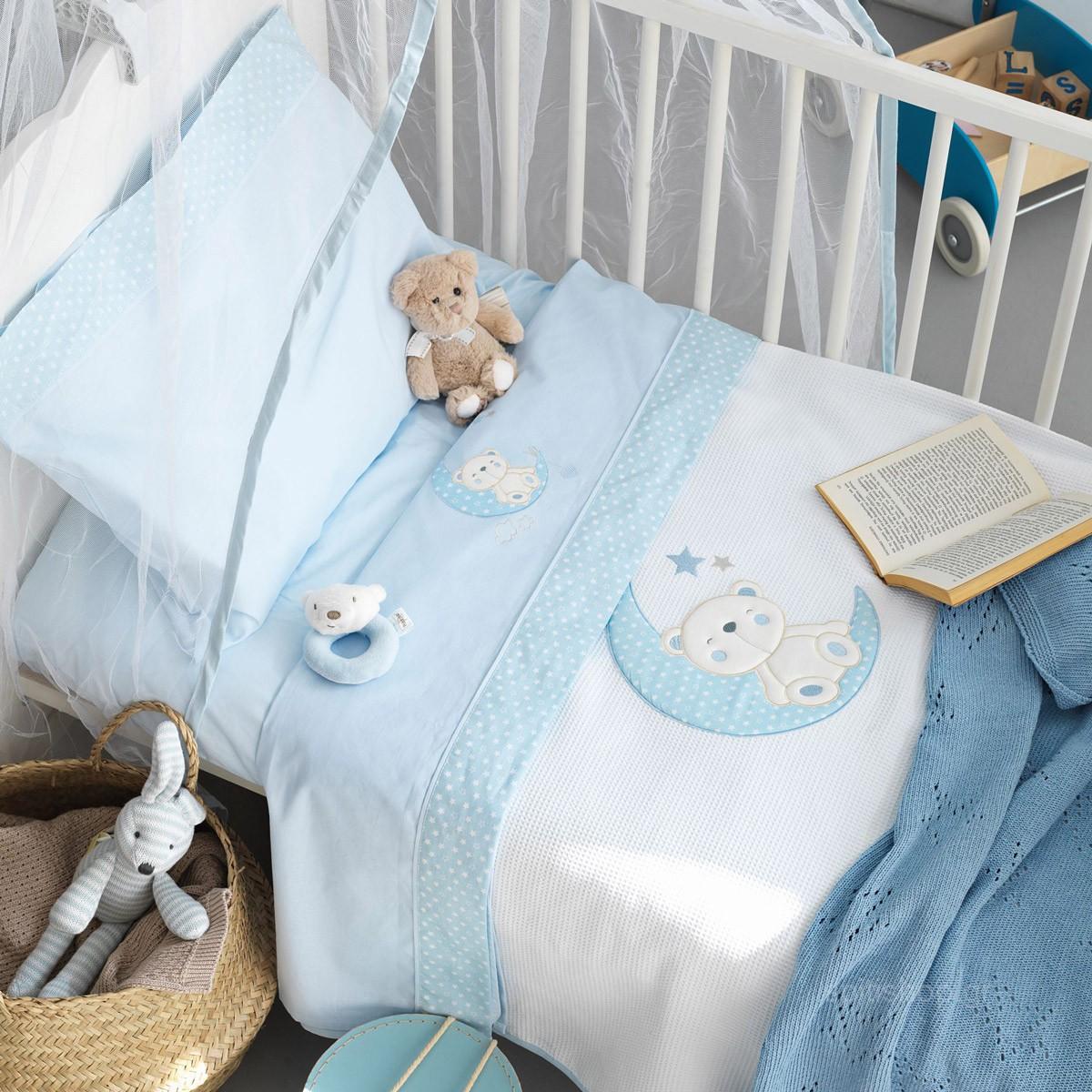 Σεντόνια Κούνιας (Σετ) Palamaiki Baby Joia 465 Ciel