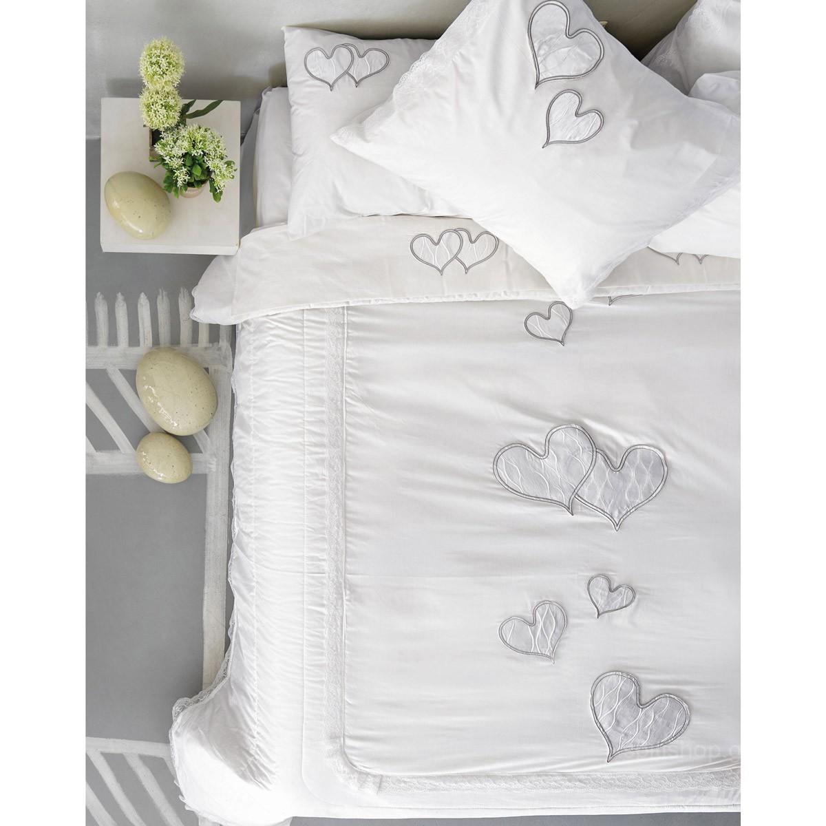 Νυφικά Σεντόνια (Σετ) Palamaiki Wedding Romantic White
