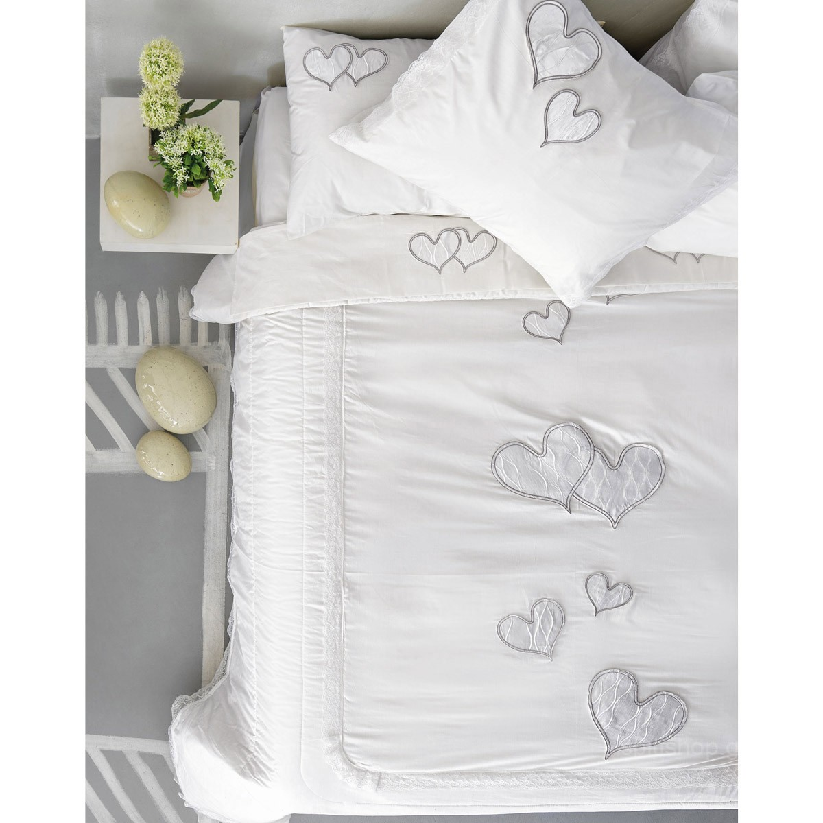 30c46f4caed Νυφικά Σεντόνια (Σετ) Palamaiki Wedding Romantic White 91356