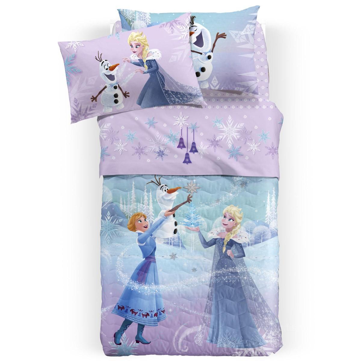 Σεντόνια Μονά (Σετ) Palamaiki Disney Frozen Glitter
