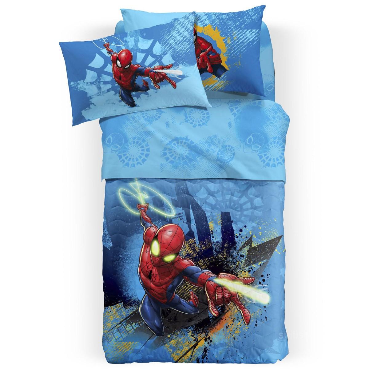 Σεντόνια Μονά (Σετ) Palamaiki Spiderman Fluo