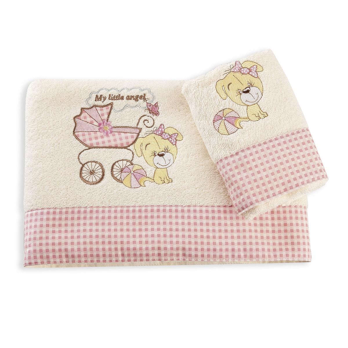 Βρεφικές Πετσέτες (Σετ 2τμχ) Dim Collection My Angel 08