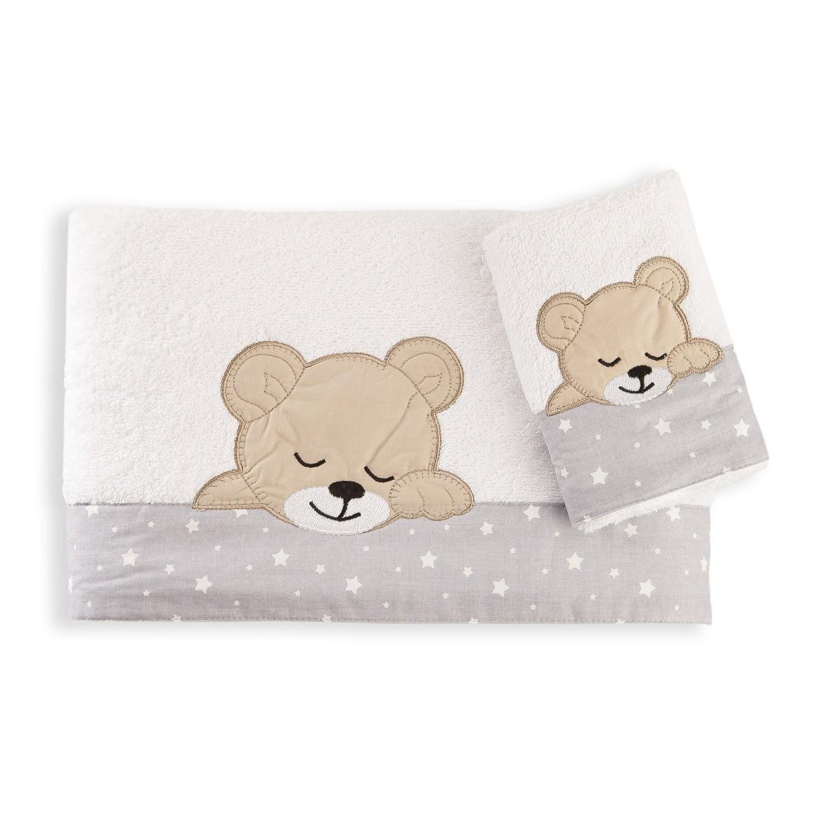 Βρεφικές Πετσέτες (Σετ 2τμχ) Dim Collection Sleeping Bear Cub 10