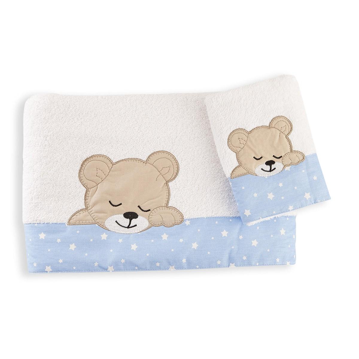 Βρεφικές Πετσέτες (Σετ 2τμχ) Dim Collection Sleeping Bear Cub 11