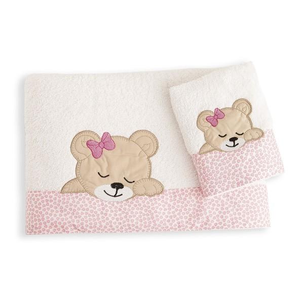 Βρεφικές Πετσέτες (Σετ 2τμχ) Dimcol Sleeping Bear Cub 12
