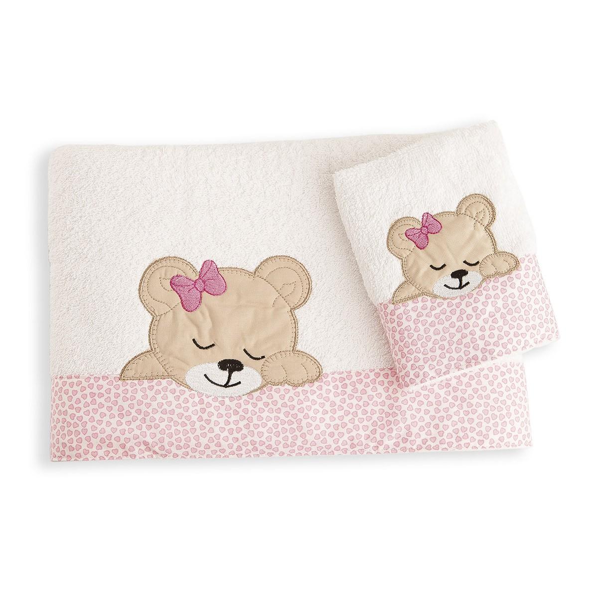 Βρεφικές Πετσέτες (Σετ 2τμχ) Dim Collection Sleeping Bear Cub 12