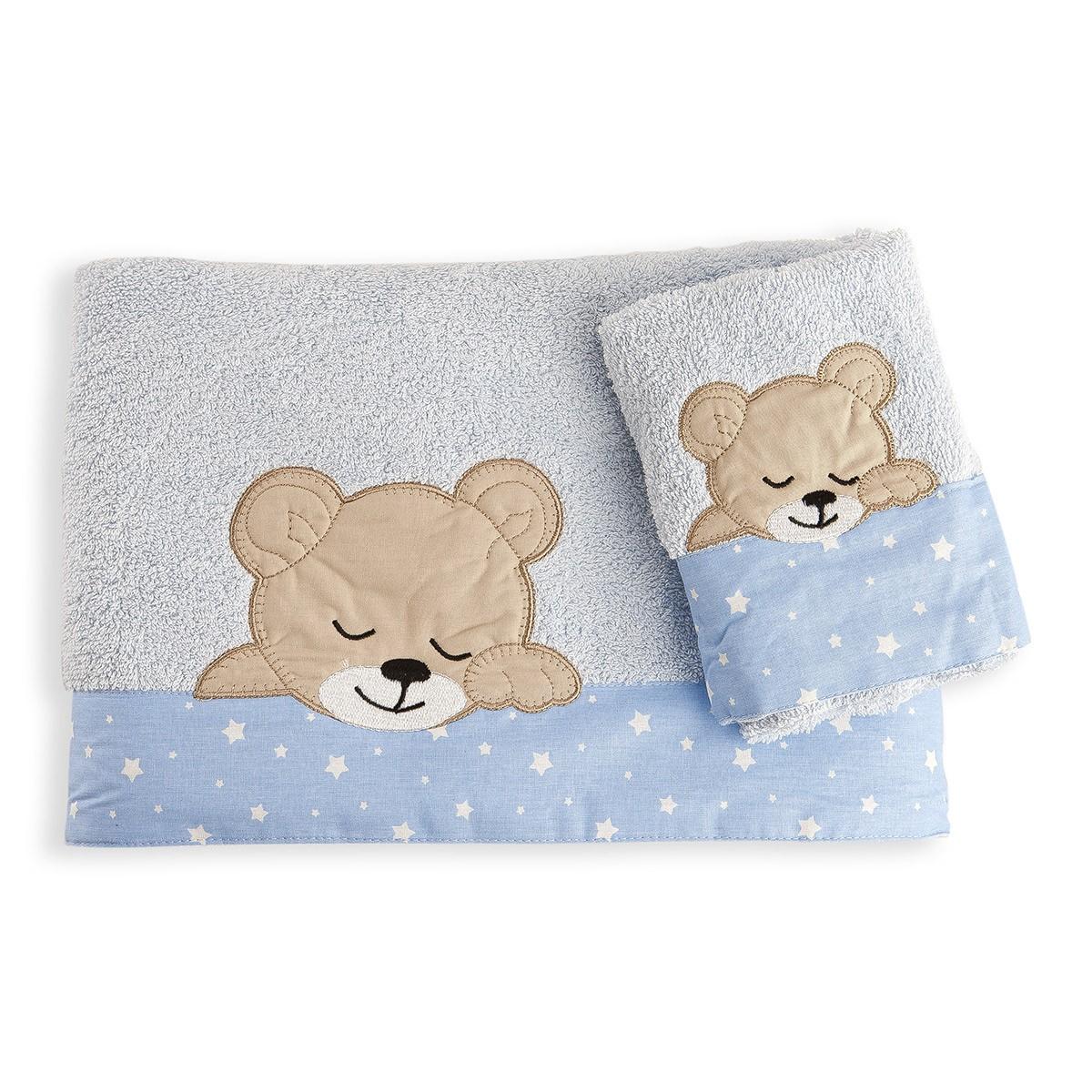 Βρεφικές Πετσέτες (Σετ 2τμχ) Dimcol Sleeping Bear Cub 13