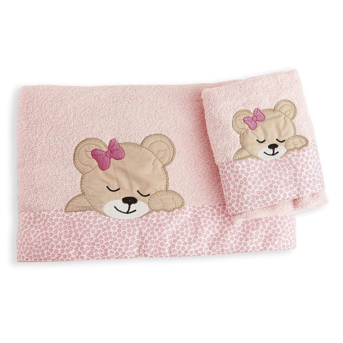 Βρεφικές Πετσέτες (Σετ 2τμχ) Dim Collection Sleeping Bear Cub 14