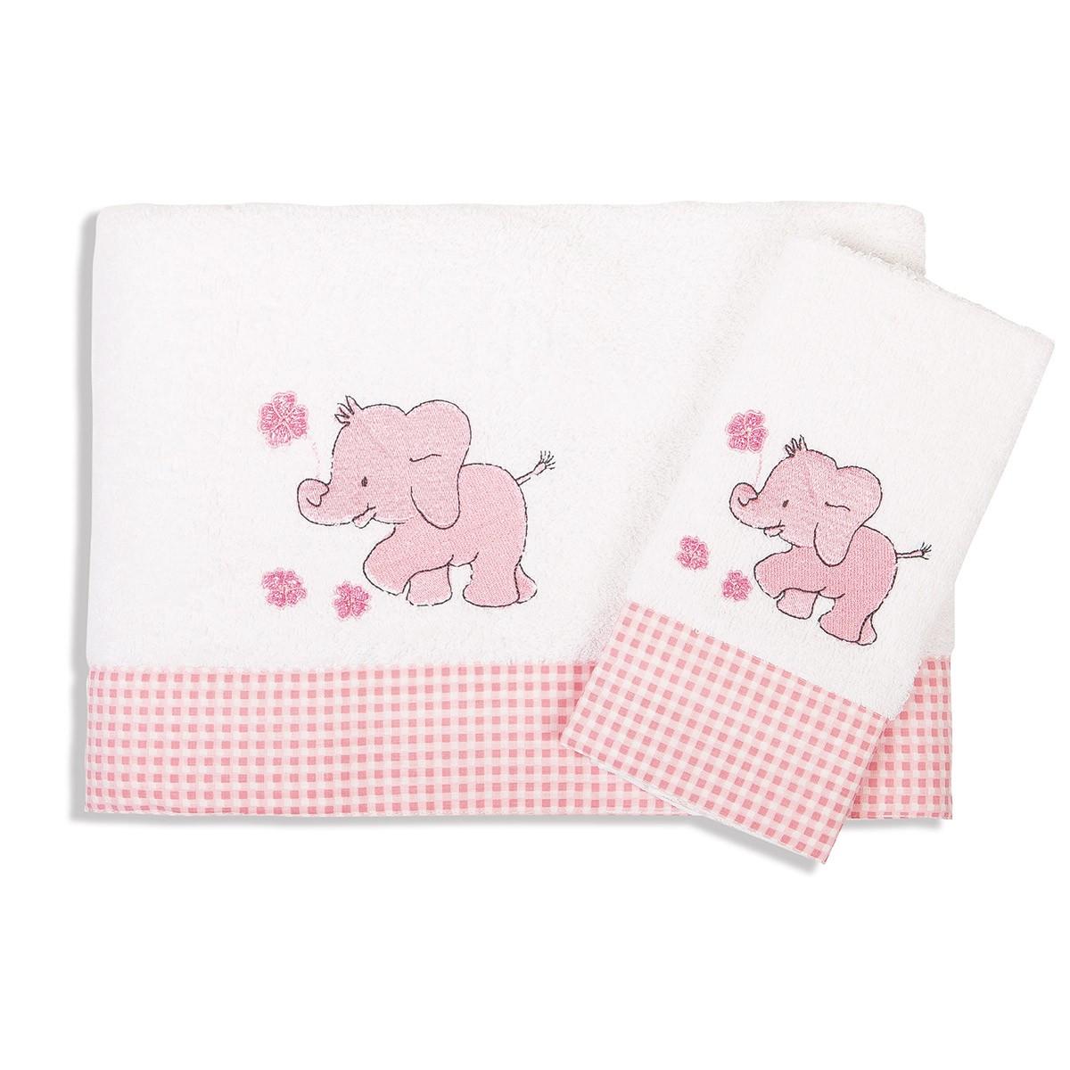 Βρεφικές Πετσέτες (Σετ 2τμχ) Dim Collection Ελεφαντάκι 17 home   βρεφικά   πετσέτες βρεφικές