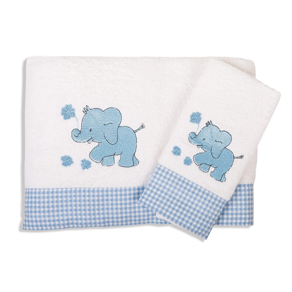 Βρεφικές Πετσέτες (Σετ 2τμχ) Dim Collection Ελεφαντάκι 18 home   βρεφικά   πετσέτες βρεφικές