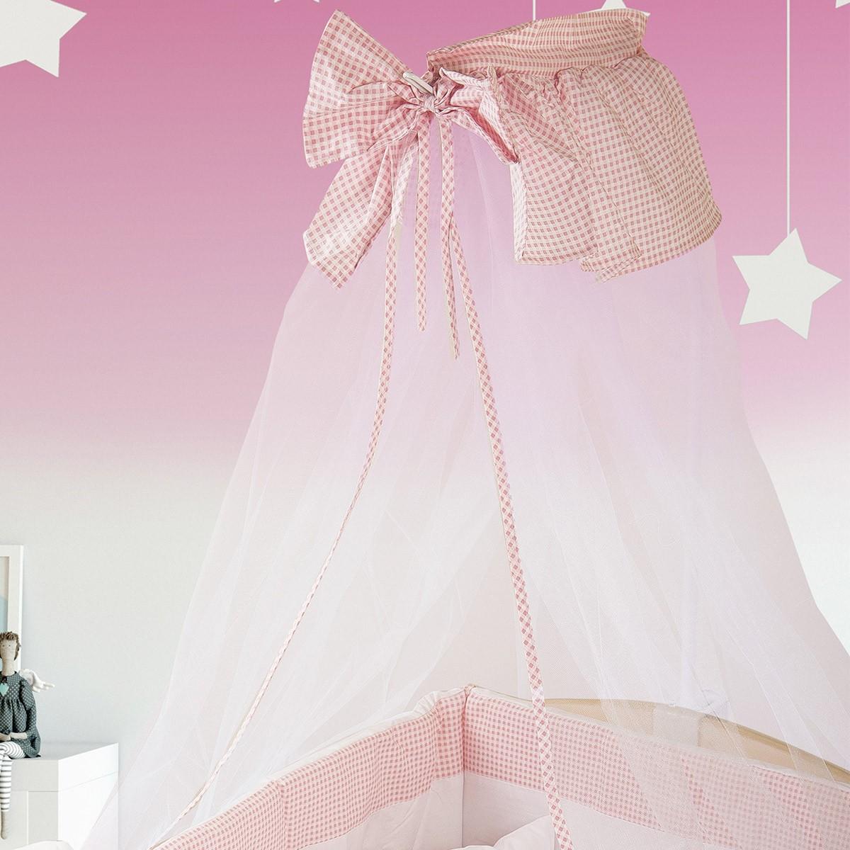 Κουνουπιέρα Κούνιας Dim Collection Ροζ