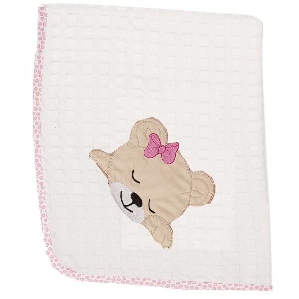 Κουβέρτα Πικέ Αγκαλιάς Dimcol Sleeping Bear Cub 12