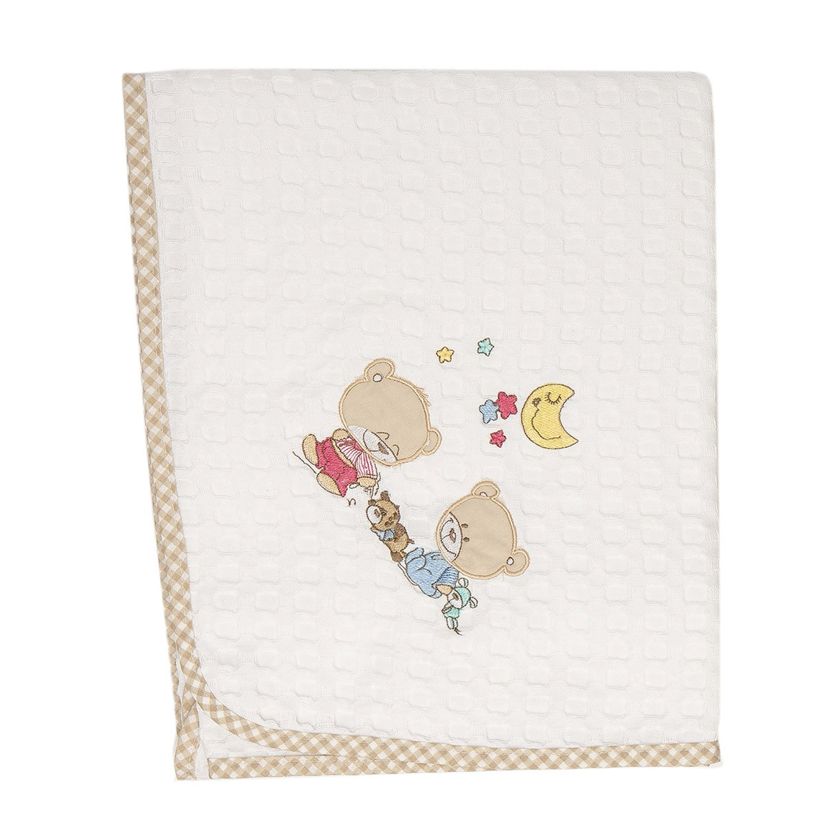 Κουβέρτα Πικέ Αγκαλιάς Dim Collection Happy Bears 21
