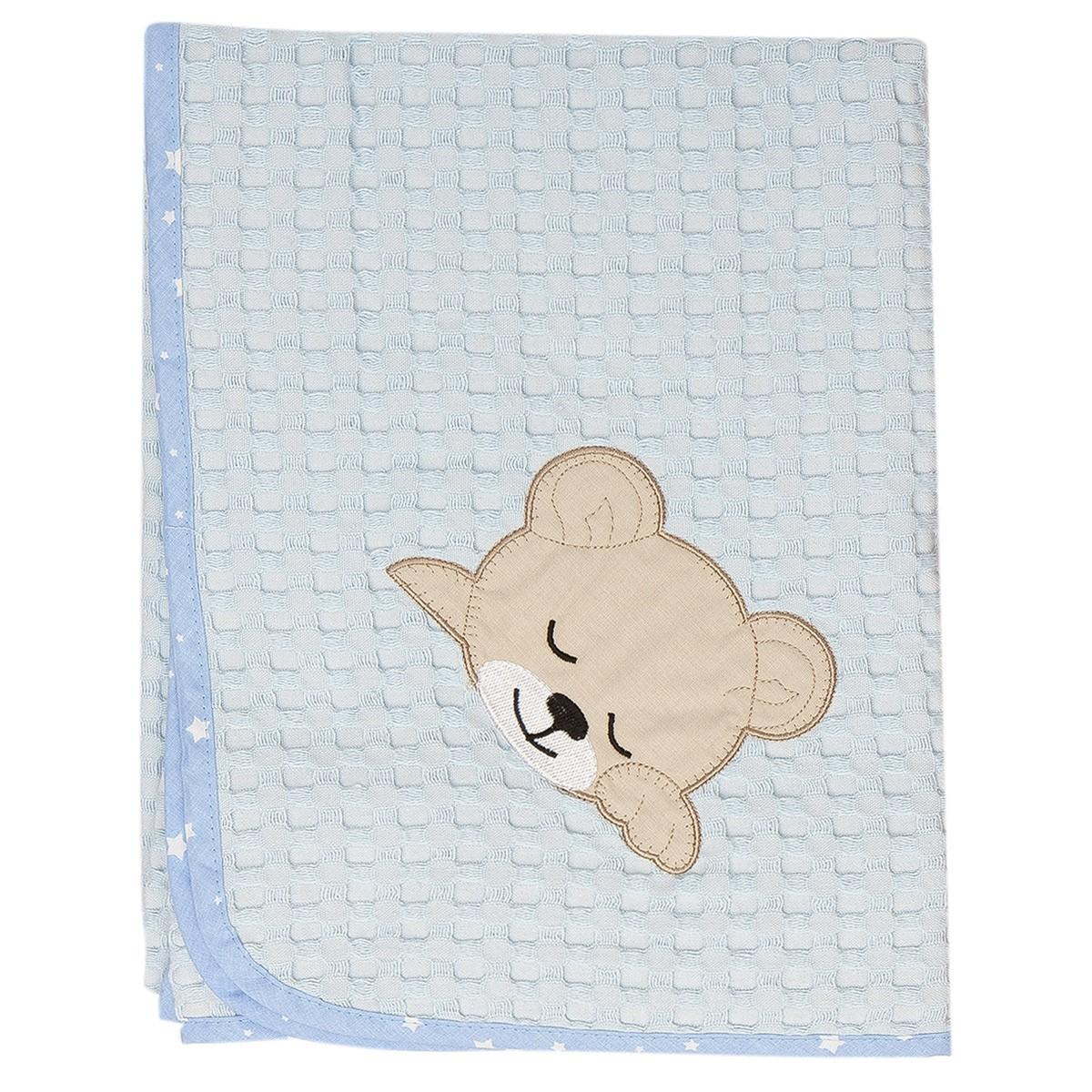 Κουβέρτα Πικέ Κούνιας Dimcol Sleeping Bear Cub 14