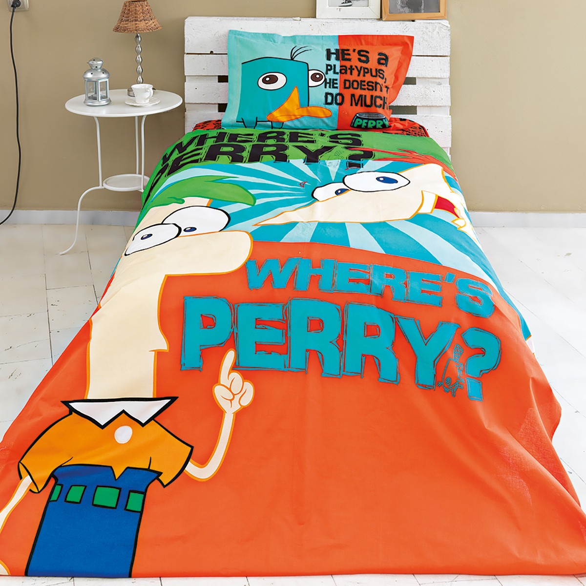 Σεντόνια Μονά (Σετ) Palamaiki Disney Phineas Με Λάστιχο Με Λάστιχο