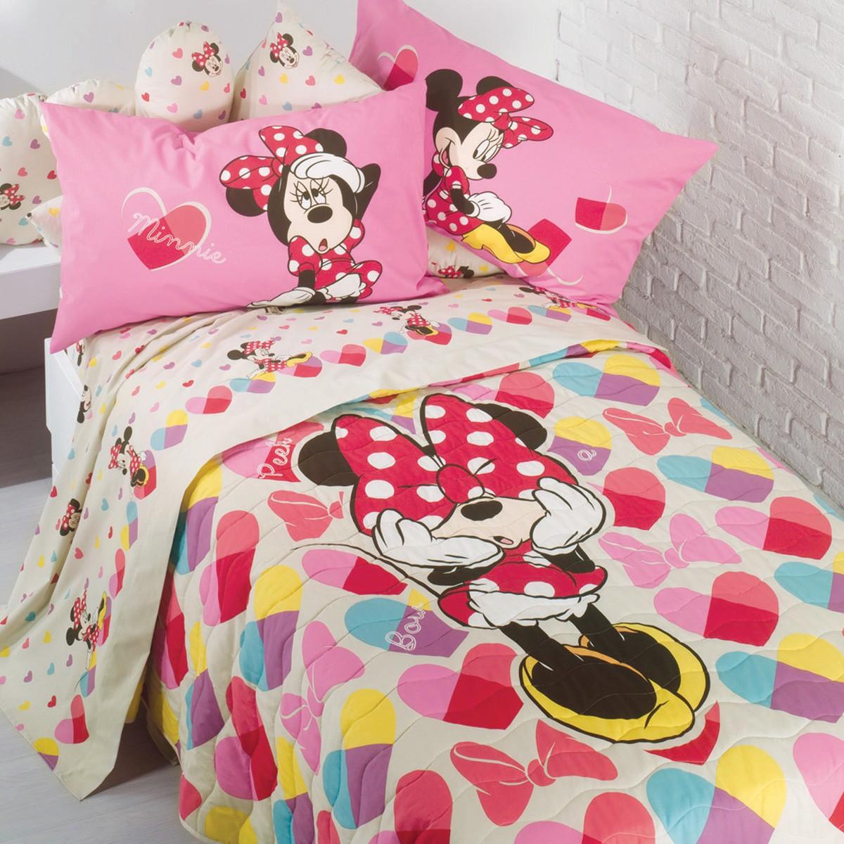 Κουβερλί Μονό Palamaiki Disney Caleffi Minnie Fiocco