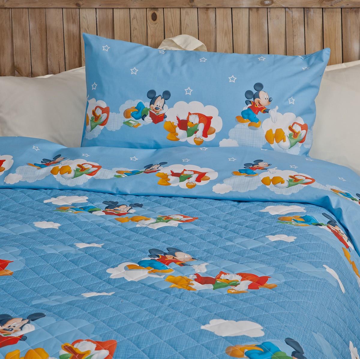 Κουβερλί + Σεντόνια Μονά Palamaiki Disney Mickey Relax