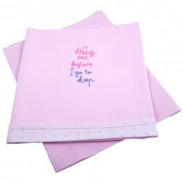 Σεντόνια Λίκνου (Σετ) Κόσμος Του Μωρού 0230 Sleep Ροζ
