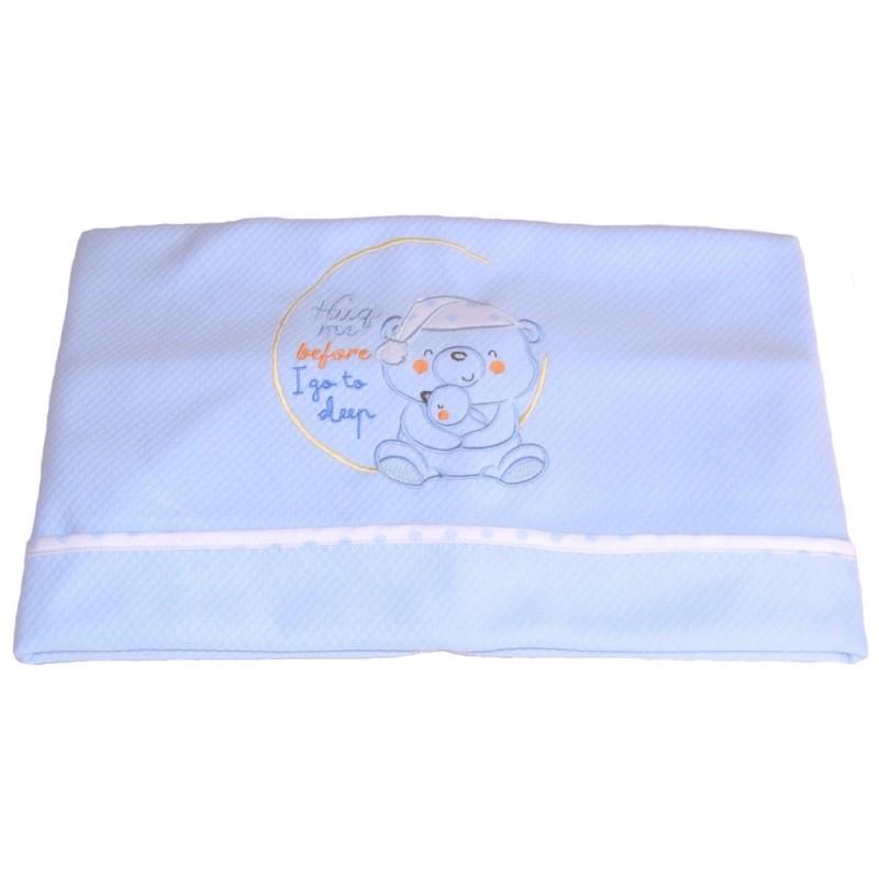 Κουβέρτα Πικέ Αγκαλιάς Κόσμος Του Μωρού 0390 Sleep Σιέλ