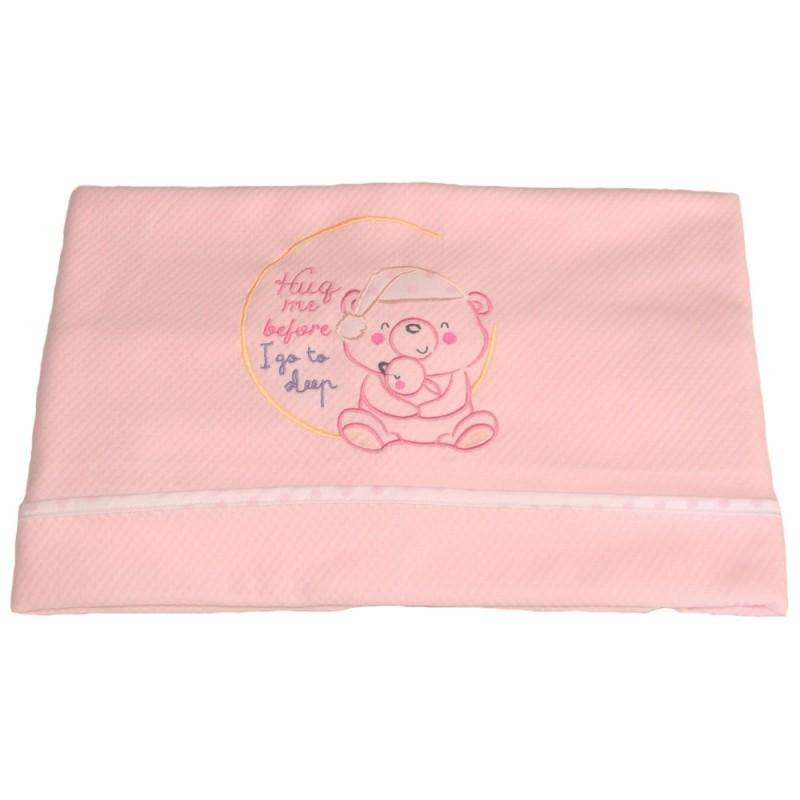 Κουβέρτα Πικέ Αγκαλιάς Κόσμος Του Μωρού 0390 Sleep Ροζ