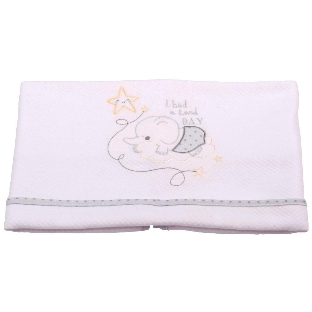 Κουβέρτα Πικέ Αγκαλιάς Κόσμος Του Μωρού 0375 Hard Day Γκρι