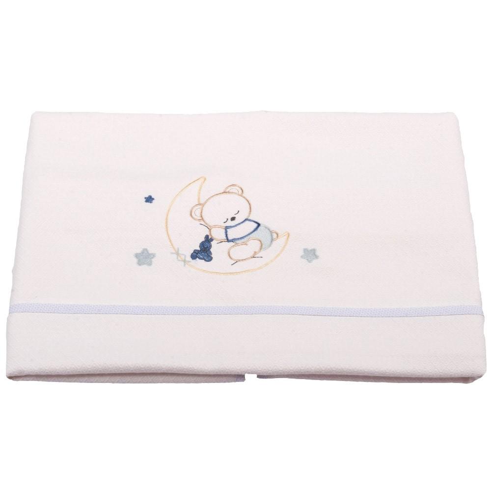 Κουβέρτα Πικέ Αγκαλιάς Κόσμος Του Μωρού 0302 Moon Σιέλ