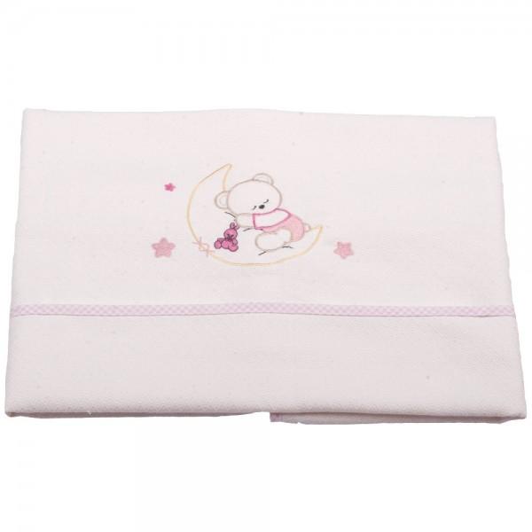 Κουβέρτα Πικέ Αγκαλιάς Κόσμος Του Μωρού 0302 Moon Ροζ