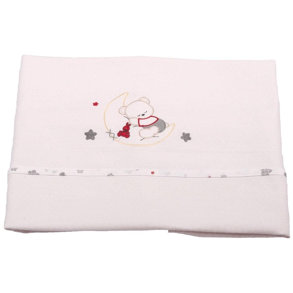 Κουβέρτα Πικέ Αγκαλιάς Κόσμος Του Μωρού 0302 Moon Γκρι