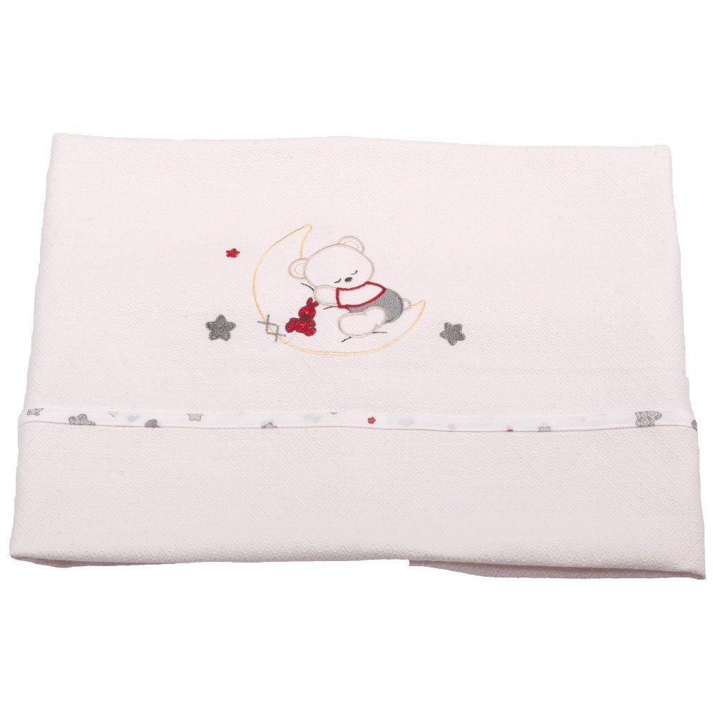 fcc71262752 Spiti Shop Κουβέρτα Πικέ Αγκαλιάς Κόσμος Του Μωρού 0302 Moon Γκρι