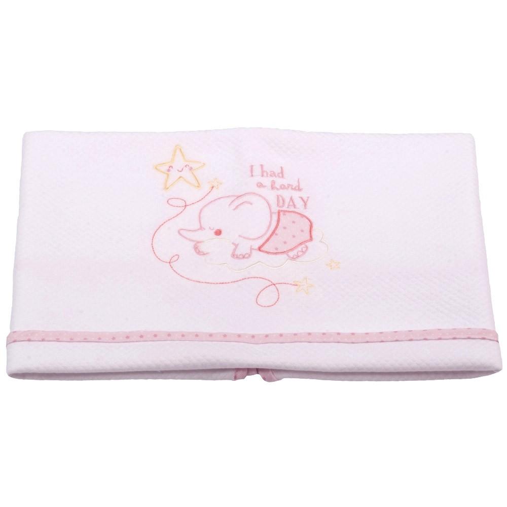 Κουβέρτα Πικέ Κούνιας Κόσμος Του Μωρού 0376 Hard Day Ροζ