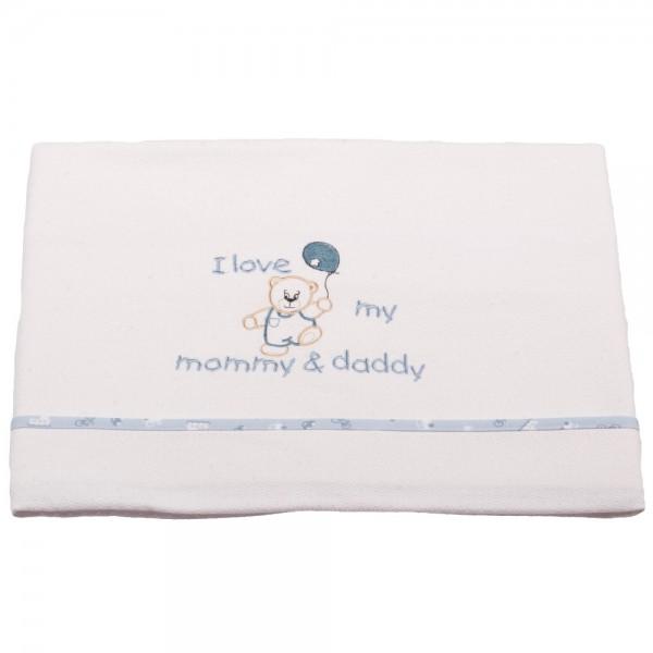 Κουβέρτα Πικέ Κούνιας Κόσμος Του Μωρού 0303 Love Σιέλ