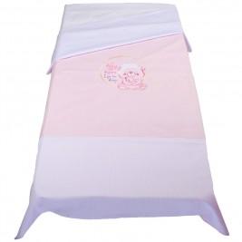 Παπλωματοθήκη Κούνιας Κόσμος Του Μωρού 7898 Sleep Ροζ