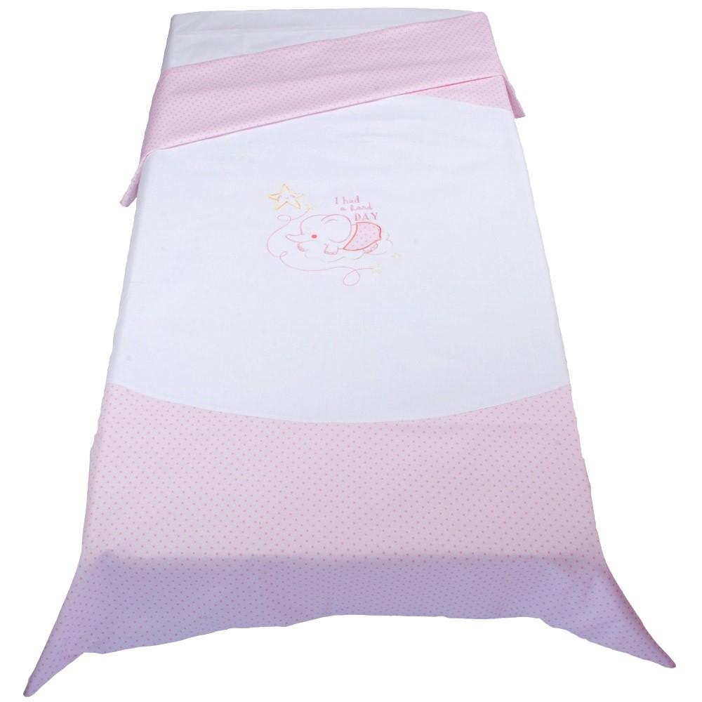 Παπλωματοθήκη Κούνιας Κόσμος Του Μωρού 7899 Hard Day Ροζ